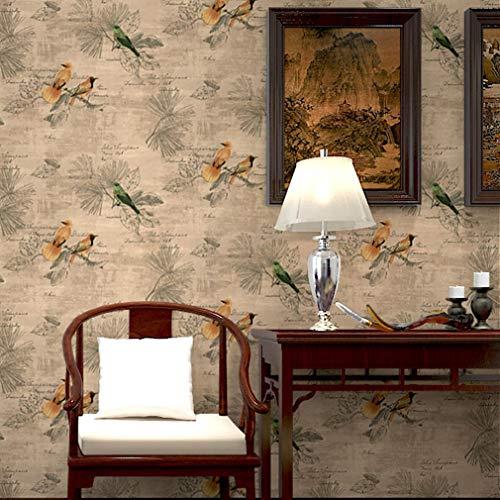 Wallpaper FANGQIAO SHOP behang, landelijk woonkamer restaurant sofa achtergrond behang retro klassiek slaapkamer behang