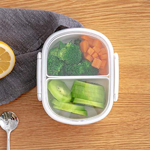 Diadia - Contenitore per il pranzo Bento a prova di perdite, 3 scomparti divisi per il pranzo, per bambini, ragazze, bambini, scuola verde