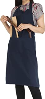 RAJRANG BRINGING RAJASTHAN TO YOU BBQ Cooking Apron - 100% Cotton Aprons with Adjustable Neck and Pockets for Restaurant - 35 x 27 Inch Blue