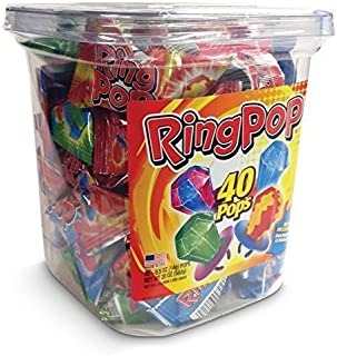 Ring Pop Lollipop Candy Assorted Flavors 40 ct Sealed Tub FACTORY FRESH by Destinie