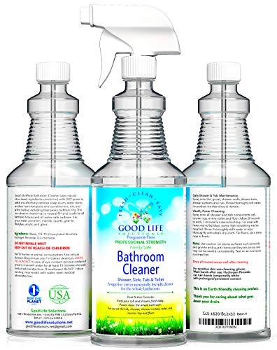 Bathroom Cleaner, Shower, Sink, Toilet- Eco-Friendly, Non-Toxic, 100% Made in The USA, Non-Abrasive, Plant-Based, PH-Balanced Bathroom Cleaner for Soap Scum, Tub Ring, Dirt Build-Up. 1- (32oz Bottle)