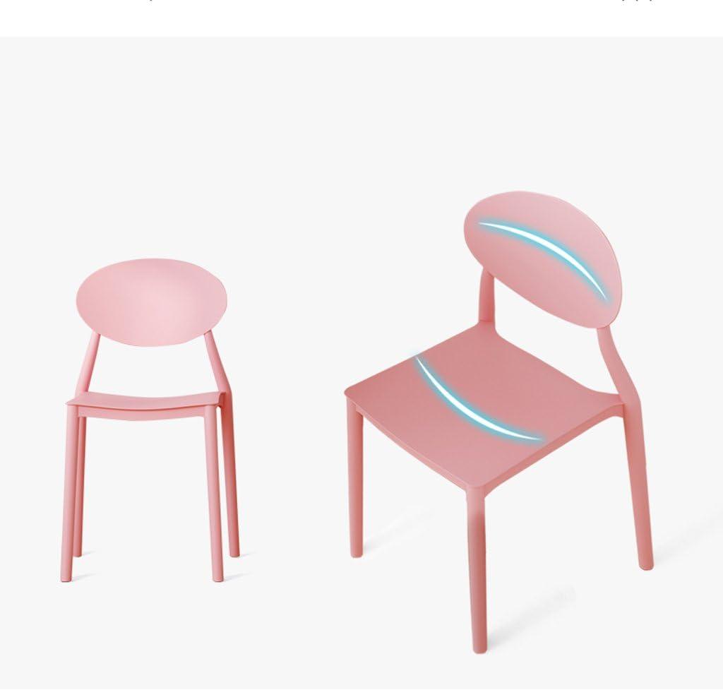 SLL- Dossier en Plastique Chaise Bureau Minimaliste Moderne à la Maison Chaise d'ordinateur Moderne (Color : E) A