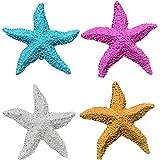 Timagebreze 8 Piezas DecoracióN Mediterranea Resina de Estilo Estrella de Mar Marina DecoracióN del Acuario de Casa Estrella de Mar