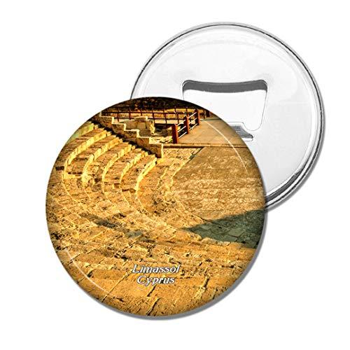 Weekino Κourion Altes Amphitheater Limassol Zypern Bier Flaschenöffner Kühlschrank Magnet Metall Souvenir Reise Gift