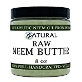 Organic Neem Butter-Coconut Oil, Neem Oil, Neem Leaf, Marula Oil, Kokum Butter, Rosemary (8 Ounce)