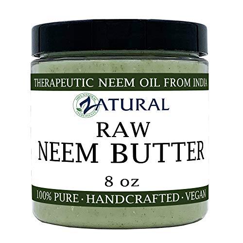 Organic Neem Butter-Coconut Oil, Neem Oil, Neem Leaf, Marula Oil, Kokum Butter, Rosemary (8 Ounce)