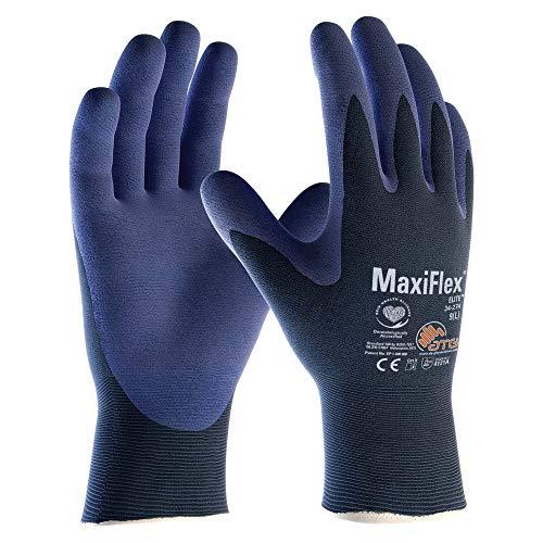 5er Pack MaxiFlex Elite Arbeitshandschuhe, Montagehandschuhe, von DBI Trading, Größe:9 (L)