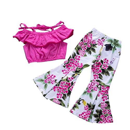Anywow - Fitness-Bekleidungssets für Mädchen in Rose, Größe 4-5 Jahre