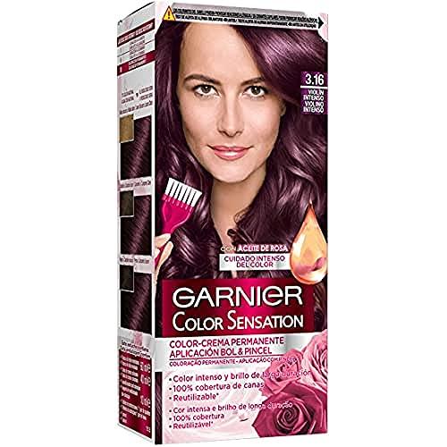 Garnier Color Sensation, Colorazione Permanente, 200 gr, no. 3.16 Viola intenso