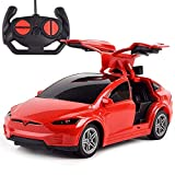 Inalámbrico de 2.4G Drift Open Door juguetes for los niños niñas eléctrico de Tesla niños de coches de juguete de control remoto que compite con la deriva de la puerta abierta del vehículo Deportes Mo