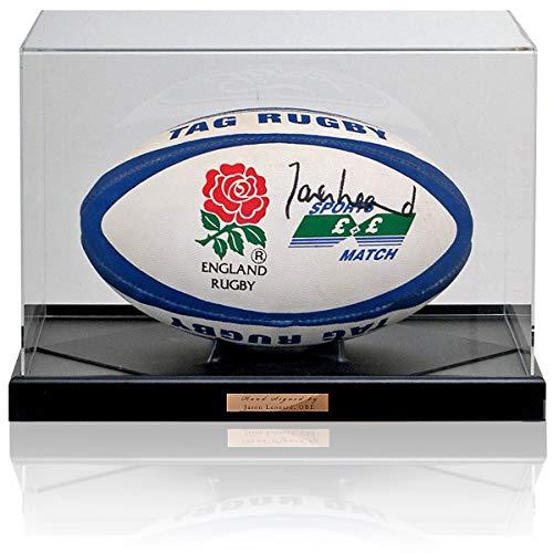 MBS Jason Leonard OBE - Pelota de Rugby de Inglaterra firmada a Mano