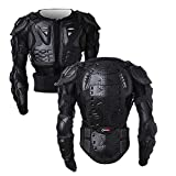 OHMOTOR Motorcycle Motorbike Full Body Armor Protector Pro Street Motocross ATV Guard Shirt Jacket with Back Protection (Black, M)
