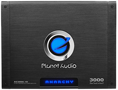 Planet Audio AC3000.1D Class D Car Amplifier - 3000 Watts, 1 Ohm Stable, Digital, Monoblock, Mosfet Power Supply