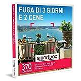 smartbox - Cofanetto Regalo Coppia - Fuga di 3 Giorni e 2 cene - Idee Regalo Originale - 2 Notti con Colazione e 2 cene per 2 Persone