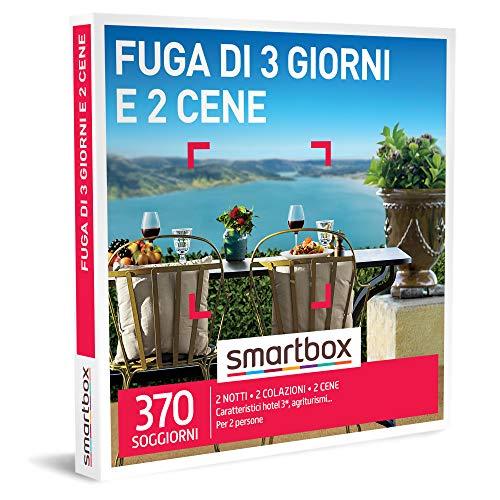 Smartbox - Fuga di 3 Giorni e 2 Cene - Cofanetto Regalo Coppia, 2 Notti con Colazione e 2 Cene per 2 Persone, Idee Regalo Originale