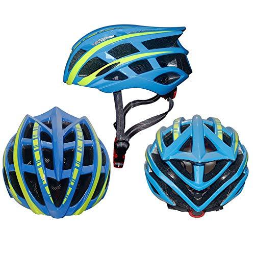 Bradoner Casco De Bicicleta Casco De Equitación Casco De Carretera Casco De Bicicleta De Montaña Hombres Y Mujeres Casco De Seguridad Transpirable (Color : Blue)