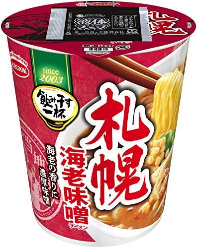 エースコック タテ型 飲み干す一杯 札幌 海老味噌ラーメン 67g ×12個