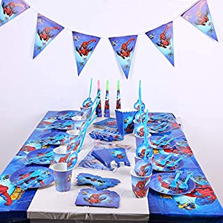 Spider-Man 16 set birthday party decorations disposable cutlery set