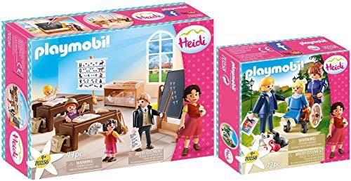 geobra Brandstätter PLAYMOBIL® Heidi 2er Set 70256 70258 Schulunterricht im Dörfli + Clara mit Vater und Fräulein Rottenmeier