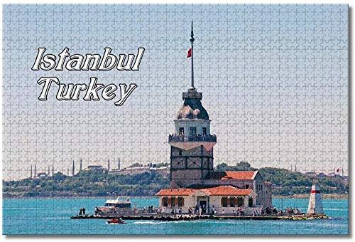 Puzzle- Turquía Maiden s Tower Istanbul Rompecabezas para Adultos Niños 1000 Piezas...