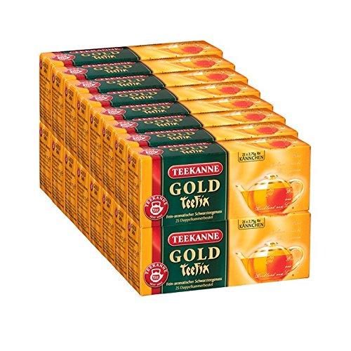 Teekanne Gold TeeFix Kannenportion, 25 Kannen 16er Pack