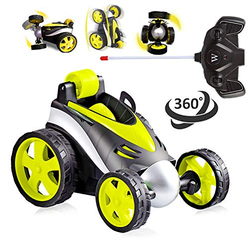 HONGKIT Control Remote Car for Boys 3-8 Years Old,RC Radio Car Stunt Race Vehicle Toys for 3 Yeaar Old Kids Best Gifts for 6 Year Old Boys Stuff for Birthday Presents for Boys Age 8 Yellow