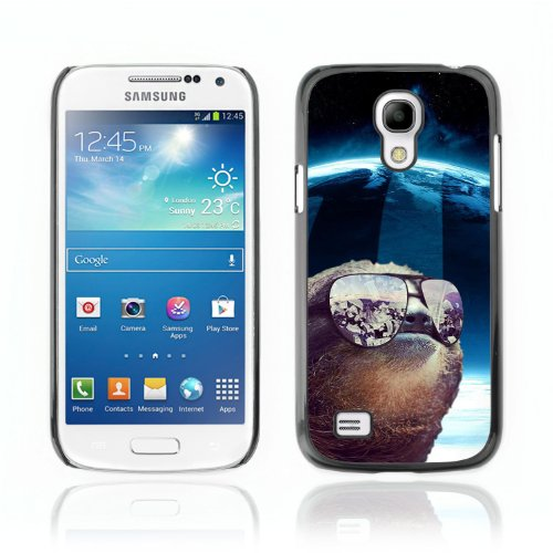 CelebrityCase Polycarbonate Hard Back Case Cover for Samsung Galaxy S4 MINI ( Space Sloth LOL )