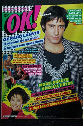 OK ! âge tendre 465 DECEMBRE 1984 GERARD LANVIN ANTHONY DELON + Poster STEVIE WONDER Claude Barzotti