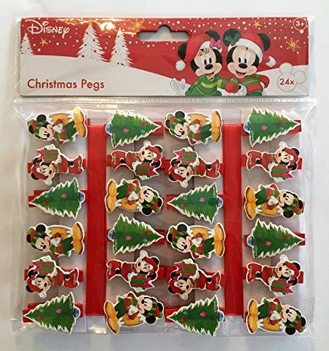 Disney Packung mit 24 Weihnachtsnägeln Mickey und Minnie Mouse