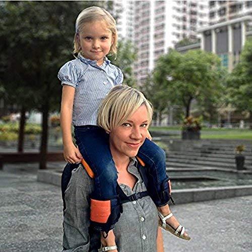 QYWSJ Asiento del Asiento del Portador Hombro,Diseño Ergonómico con Correas Tobillo para Niños,Asiento Acogedor y Protección Seguridad Todas Las Direcciones,para Caminar,Acampar, Turismo