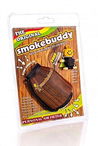 smokebuddy Original Personal Air Filter with Wood Detailing