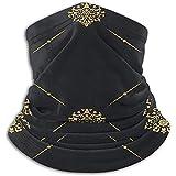 Patrón de oro vintage Calentador de cuello Heat Sun-ProNeck Gaiter Tube Soft Half Mask Unisex Neck Gaiter Cover para esquí