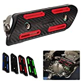 Motocross Exhaust Heat Shield Header Pipe Straight Section Protective Cover for Dirt Bike ATV for KXF250/450 CRF250/450 SXF250/350/450/500 (Red)