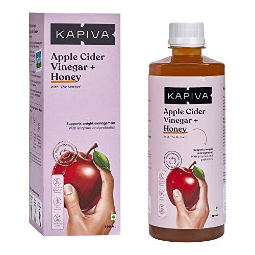 Kapiva Apple Cider Vinegar + Honey (With Ginger, Garlic & Lemon) - 500 ml