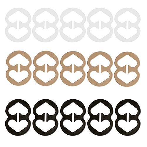 Bra Strap Clips Anti-Slip Buckles Conceal Straps - for Back for Women 15 Pack (15 Pack)