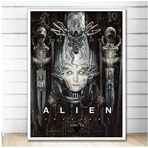 A&D Hr Giger Li II Abstrakte Alien Poster Wandkunst Bild Poster und Drucke Leinwand Gemälde für Room Home Decor -50x70cm Kein Rahmen