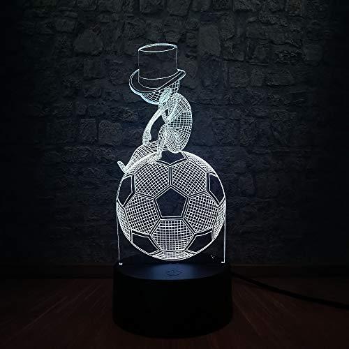 shiyueNB Kreative sportlichen Stil 3D USB LED Lampe nehmen Hut Kinder sitzen Übung Fußball Fußball Denken Art House Decor Lampe Licht