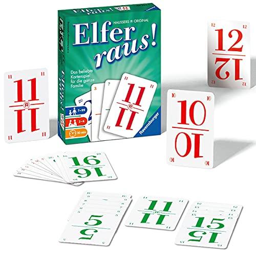 Ravensburger 20754 - Elfer raus Kartenspiel, Gesellschaftsspiel für 2-6 Spieler, Spiel ab 7 Jahren für Kinder und Erwachsene, Spiele-Klassiker