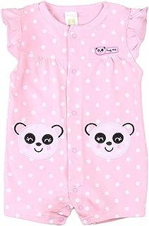 Bebé Mono Manga Corta Mameluco Verano Niñas Pelele Pijama de Algodón Trajes Caricatura