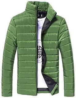 Fashion Men Cotton Zipper Warm Tops Winter Long Sleeve Thick Coat Jacket