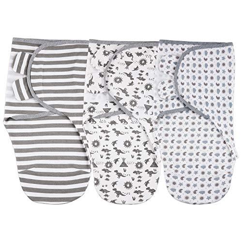 Lictin Pucksack Baby 0-3 Monate Baby Decke Pucktuch Baby Schlafsack Wickel-Decke Set, Swaddle Decke, 3er Pack Universal Verstellbare Puckdecken Wrap Cloth