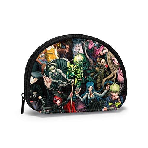 Danganronpa Shell bolsa de almacenamiento para mujeres y niñas linda moda con cremallera monedero t bolsa de cambio multifunción bolsa organizador