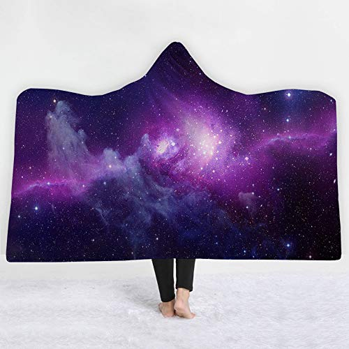 FimGGe Starry Sky Dicke Decke Universe Winterbett Wurf Weiche Warme Tragbare Decke Sherpa Fleece Joyous Cobija Cobertor-130 cm * 150 cm