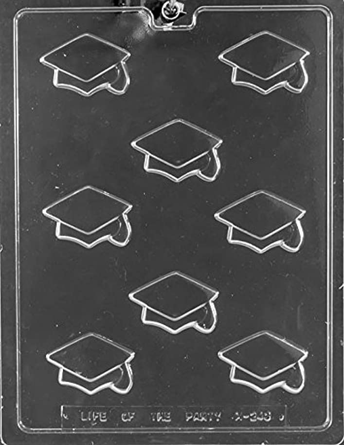 National Cake Supply Bite Size Graduation Cap Chocolate Mold - M243 - Includes our Copyrighted Melting & Chocolate Molding Instructions