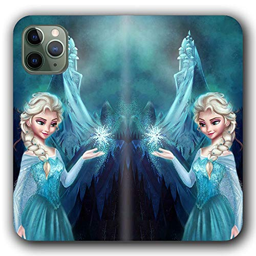 Funda iPhone 6/Funda iPhone 6S Flip Leather Wallet Incidental Card Slot Phone Case Fro Zen Diney Carto On Elsa and Anna P-130