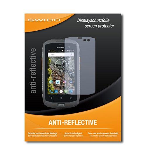 SWIDO Bildschirmschutz für Simvalley Mobile SPT-940 [4 Stück] Anti-Reflex MATT Entspiegelnd, Hoher Festigkeitgrad, Schutz vor Kratzer/Glasfolie, Schutzfolie, Bildschirmschutzfolie, Panzerglas Folie