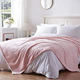 NexHome Fleece Blanket King Size - Coral Pink Lightweight Bed Blankets - Soft Throw Blanket for Sofa, Couch, Camping, Travel - Super Cozy Warm Microfiber for All Season(Coral Pink,108'X90'