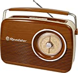 Roadstar TRA-1957/WD Radio Retro Portable Marron