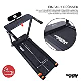 Miweba Sports elektrisches Laufband HT500 – Klappbar – 0,75 Ps – 14 Km/h – 12 Laufprogramme – Tablet Halterung – Große Lauffläche - 4