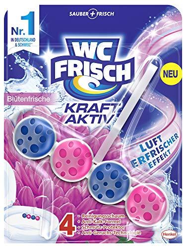 WC-Frisch Kraft Aktiv Duftspüler Blütenfrische, WC-Reiniger, 1 Stück, mit Lufterfrischer Effekt für einen intensiven Duft